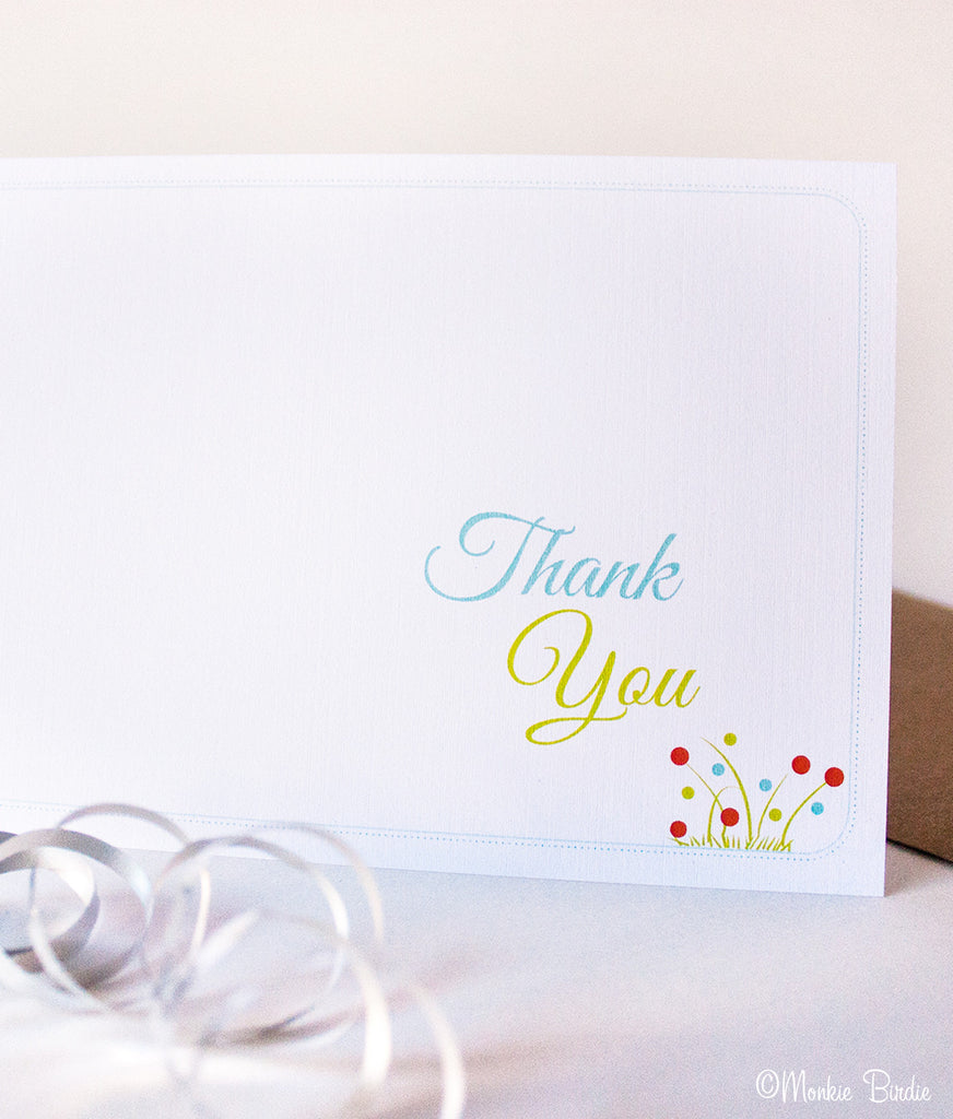 Jungle Safari Thank You- Set of 10