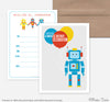 Robot Birthday Invites- Set of 10