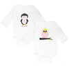 Pink Penguin & Owl- Set of 2 Bodysuits