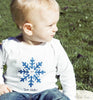 Winter Red Snowflake Baby Tee