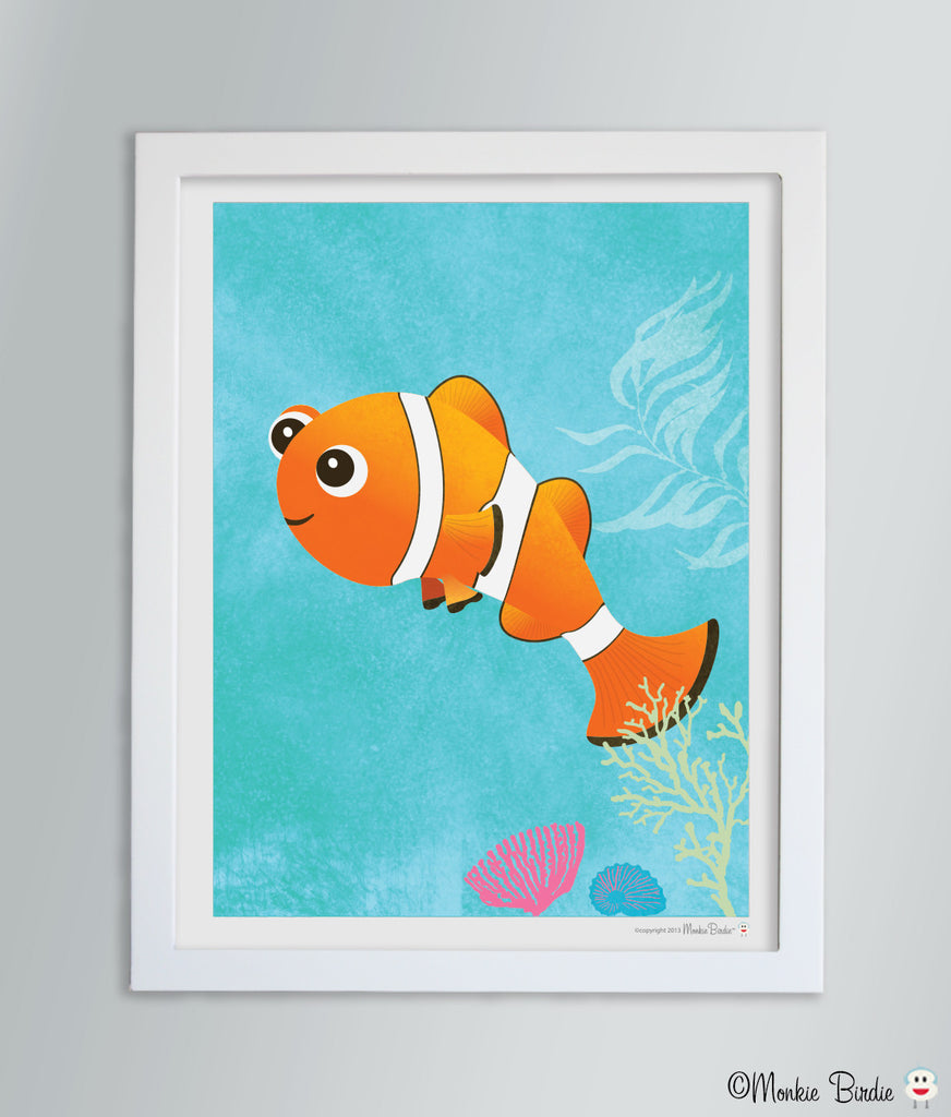 Clownfish Nursery Art Print