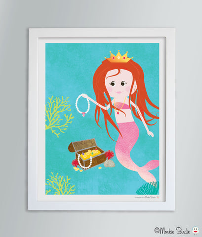 Princess Mermaid Nursery Art Print