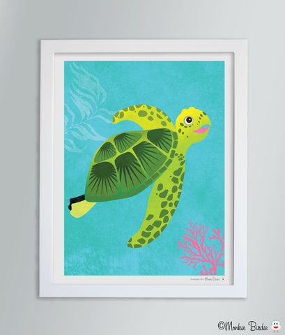 Turtle Nursery Art Print