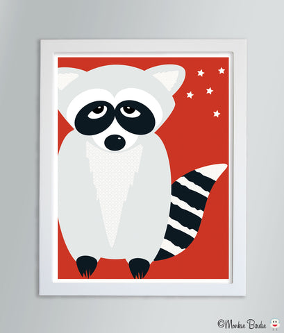 Raccoon Nursery Art Print