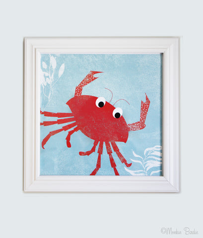 Crab Nursery Art Print