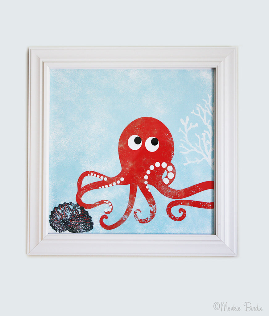 Octopus Nursery Art Print