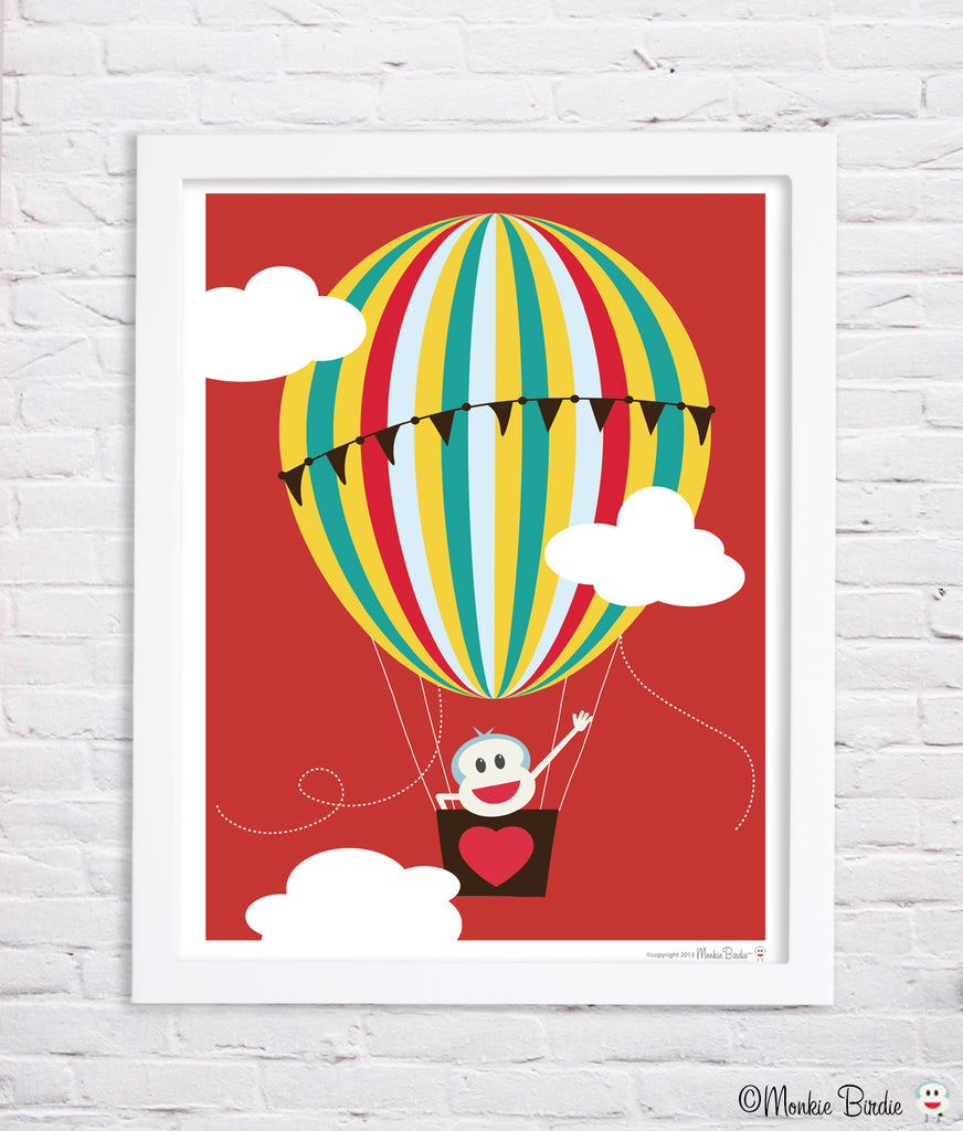 Hot Air Balloon Nursery Art Print