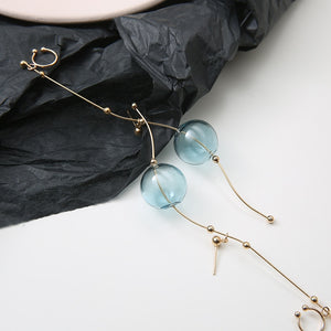 Single Glass Ball Earring