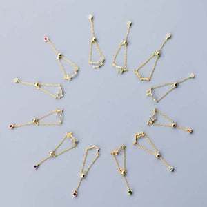 12 Constellation Chain Ring Series