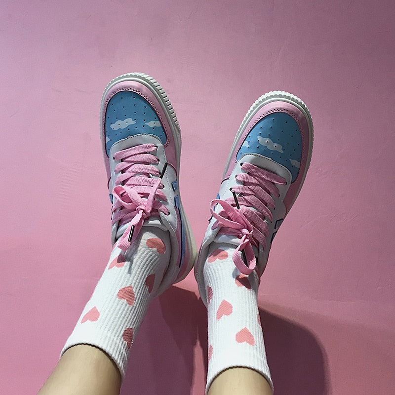 Cotton Candy Clouds Sneakers