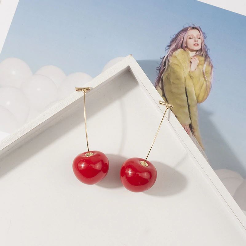 Cherry Drop Earrings