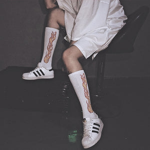 Flame Over the Calf Socks