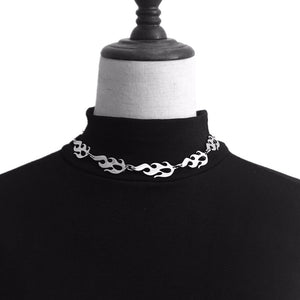 Flame Choker Necklace