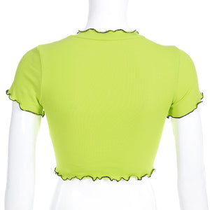 Daisy Lime Crop Top