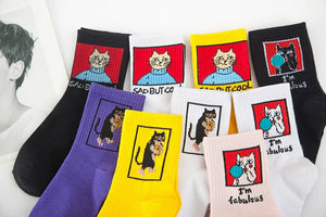Cool Cats Crew Socks