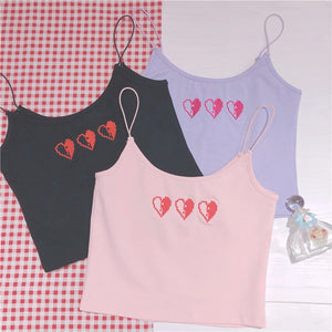 Embroidered Triple HP Hearts Cami