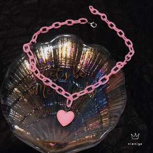Candy Heart Chain Necklace