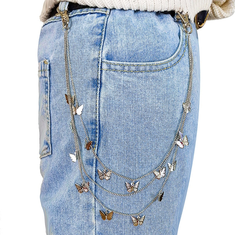 Butterfly Layered Pant Chain