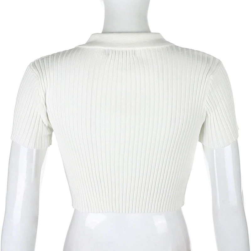 Queenie Ribbed Crop Top