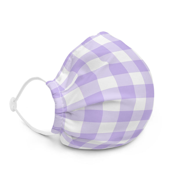 Dreamy Pastel Purple Gingham Face Mask