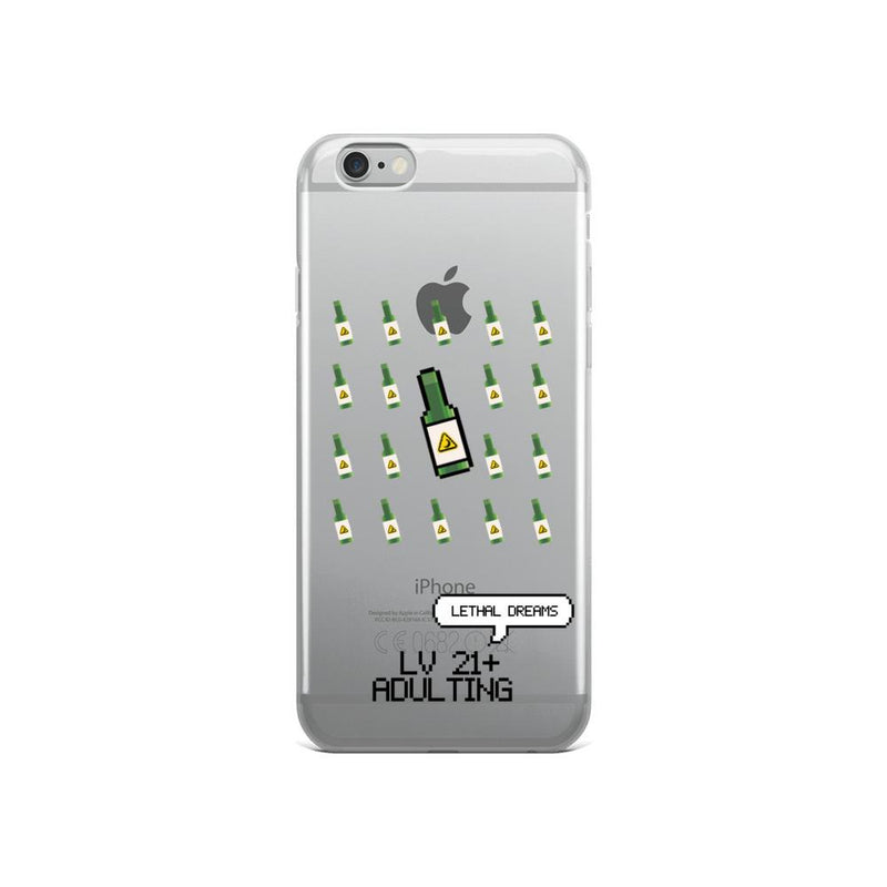 LV 21+ ADULTING iPhone Case - Lethal Dreams