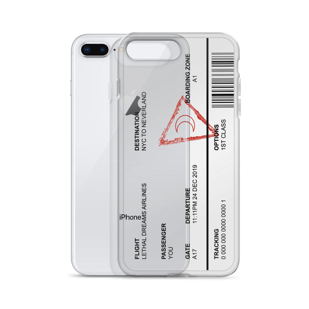 Neverland Plane Ticket iPhone Case