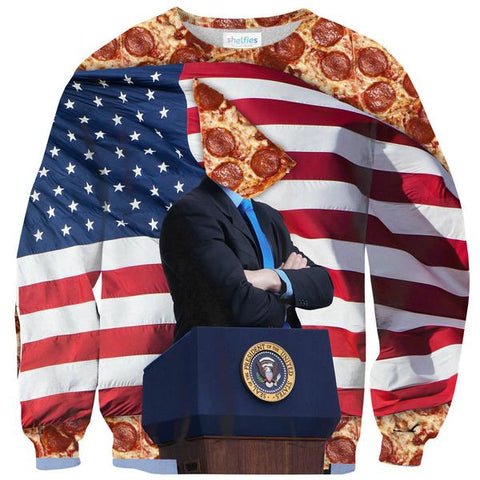 Party Pizza Sweater Shelfies