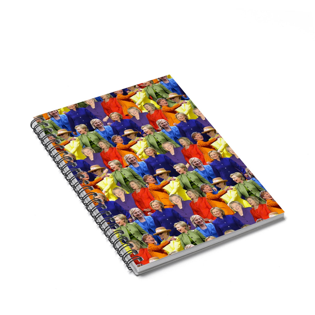 Hillary Clinton Rainbow Suit Spiral Notebook-Printify-Spiral Notebook-| All-Over-Print Everywhere - Designed to Make You Smile