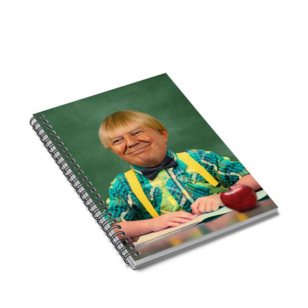 Grade School Trump Spiral Notebook-Printify-Spiral Notebook-| All-Over-Print Everywhere - Designed to Make You Smile