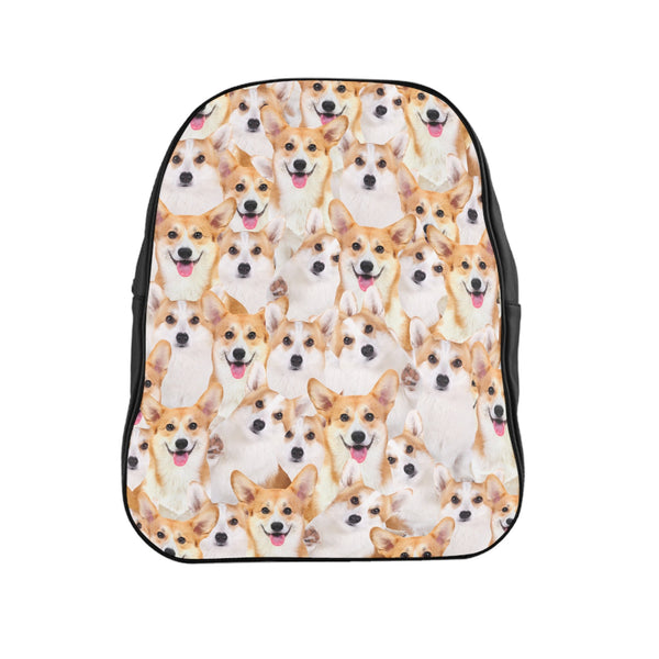 Corgi Invasion Backpack-Printify-Large-| All-Over-Print Everywhere - Designed to Make You Smile