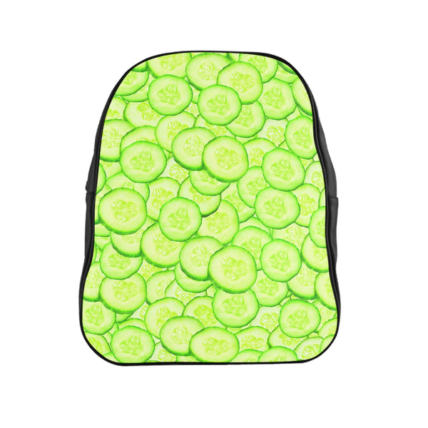 Cucumber Invasion Backpack-Printify-Large-| All-Over-Print Everywhere - Designed to Make You Smile