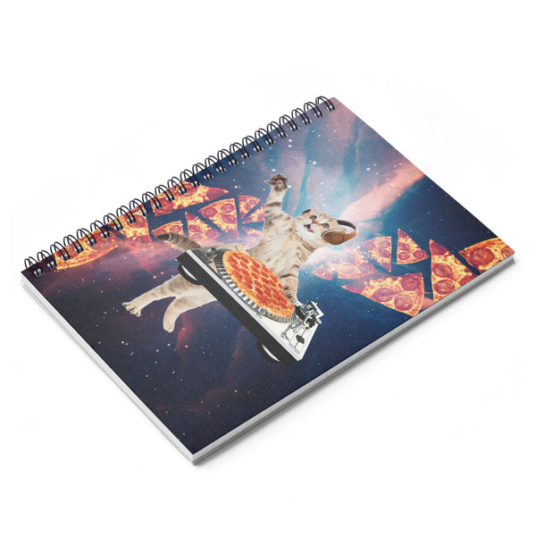 DJ Pizza Cat Spiral Notebook-Printify-| All-Over-Print Everywhere - Designed to Make You Smile