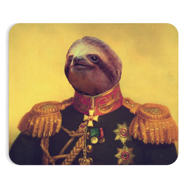 Lil' General Sloth Mousepad-Printify-Rectangle-| All-Over-Print Everywhere - Designed to Make You Smile