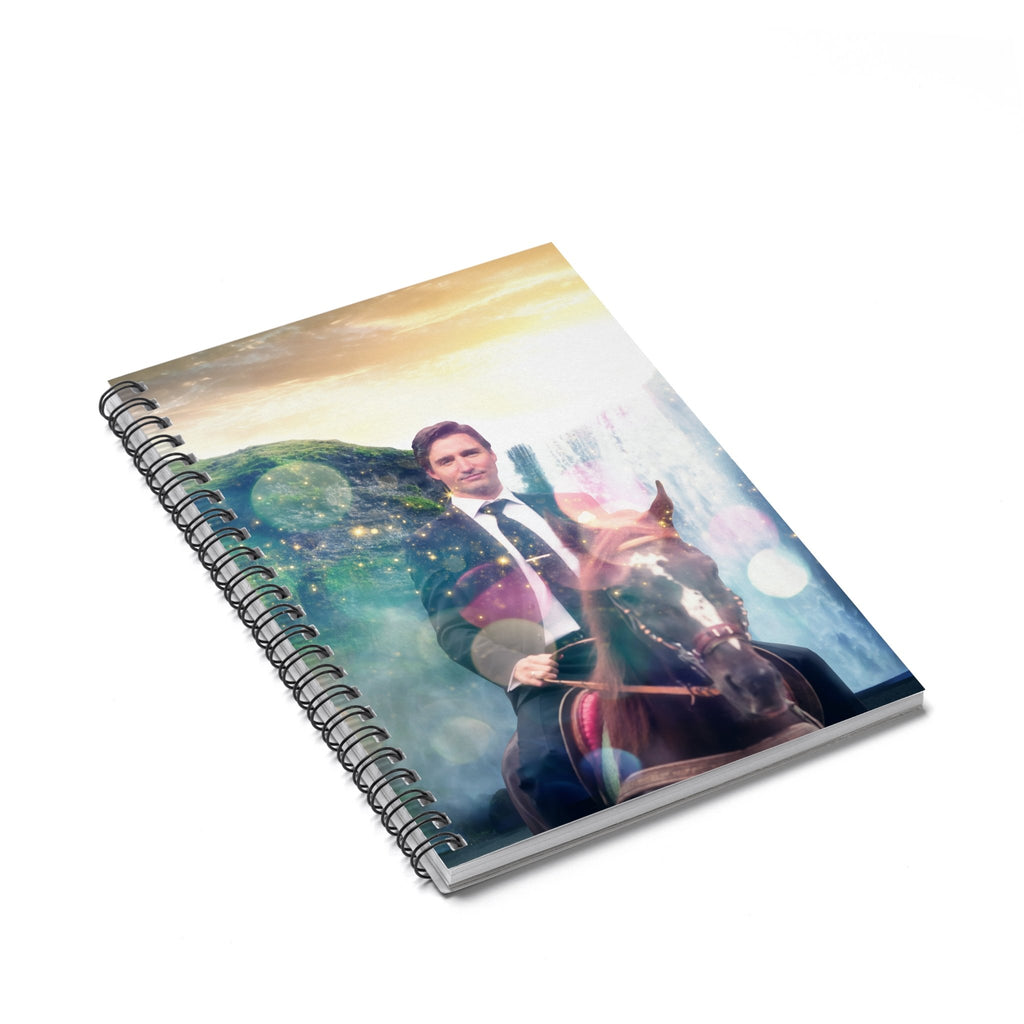Dreamy Trudeau Spiral Notebook-Printify-Spiral Notebook-| All-Over-Print Everywhere - Designed to Make You Smile