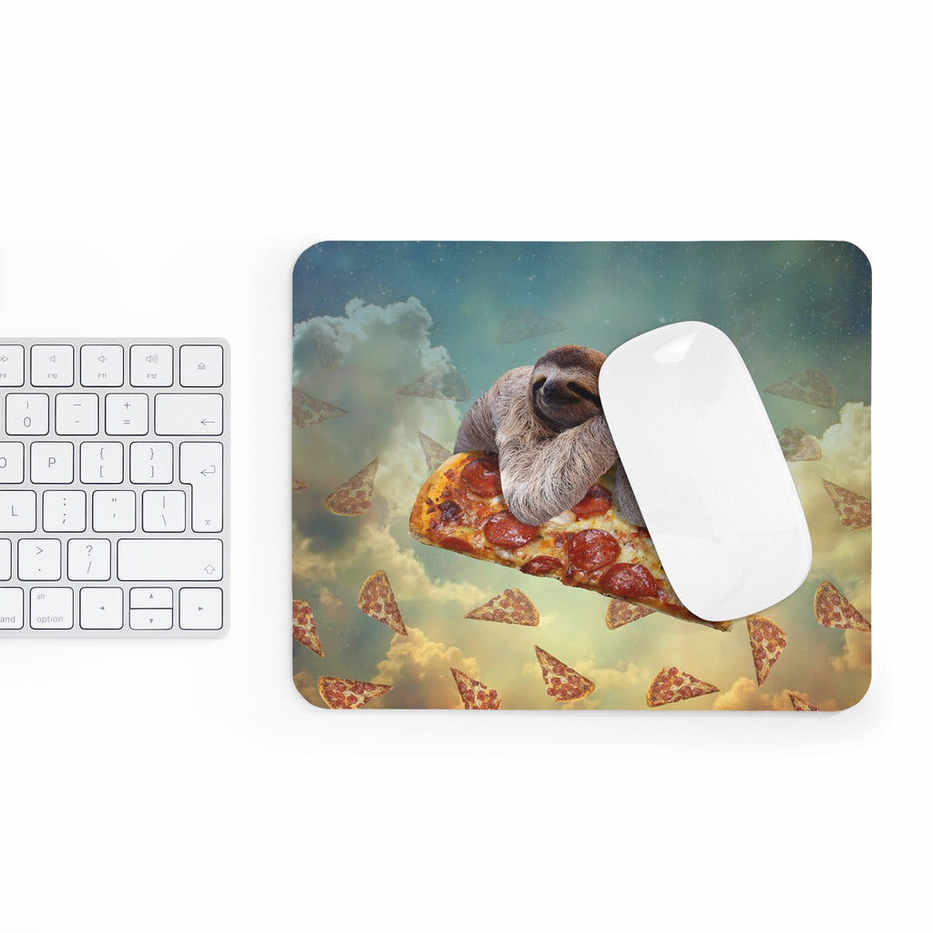 Sloth Pizza Mousepad-Printify-Rectangle-| All-Over-Print Everywhere - Designed to Make You Smile