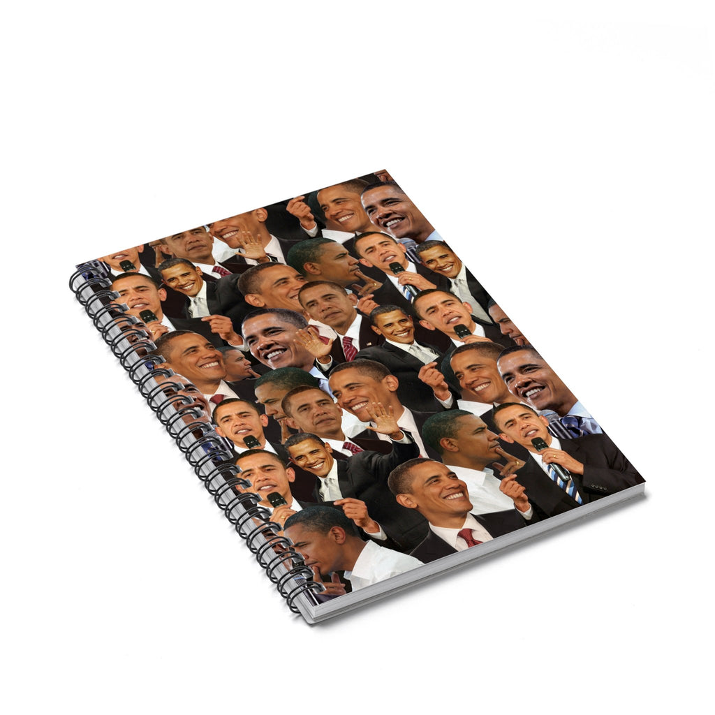 Barack Obama Face Spiral Notebook-Printify-Spiral Notebook-| All-Over-Print Everywhere - Designed to Make You Smile