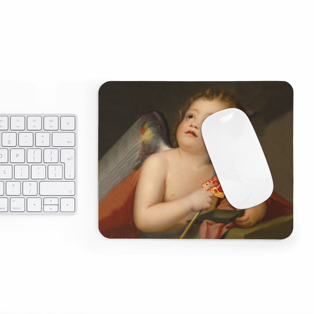 Cupid Pizza Mousepad-Printify-Rectangle-| All-Over-Print Everywhere - Designed to Make You Smile