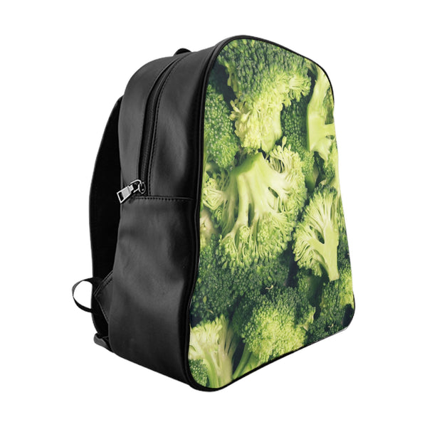 Broccoli Invasion Backpack-Printify-Large-| All-Over-Print Everywhere - Designed to Make You Smile