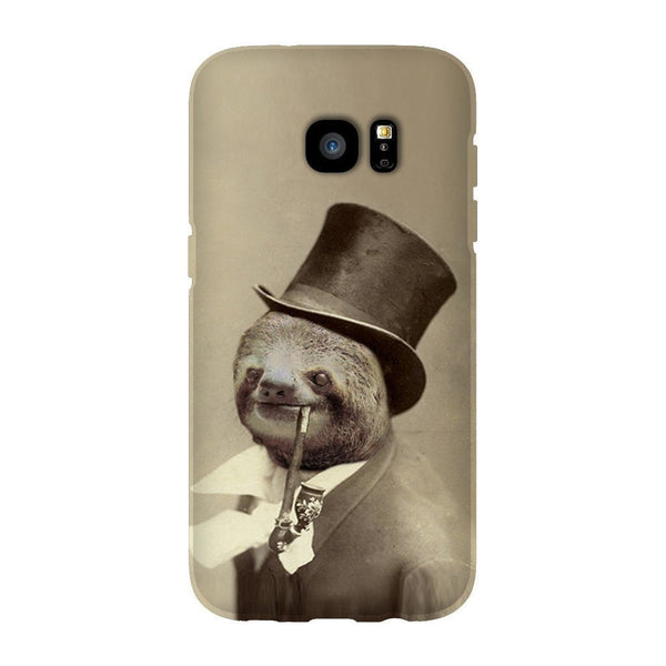 Old Money Flows Sloth Smartphone Case-Gooten-Samsung S7 Edge-| All-Over-Print Everywhere - Designed to Make You Smile