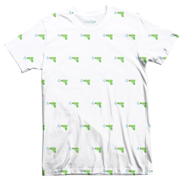 Watergun Emoji T-Shirt-kite.ly-| All-Over-Print Everywhere - Designed to Make You Smile