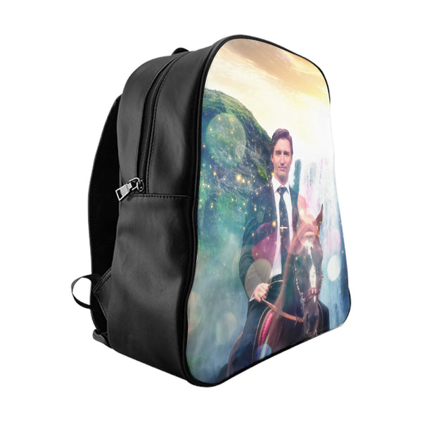 Dreamy Trudeau Backpack-Printify-Large-| All-Over-Print Everywhere - Designed to Make You Smile