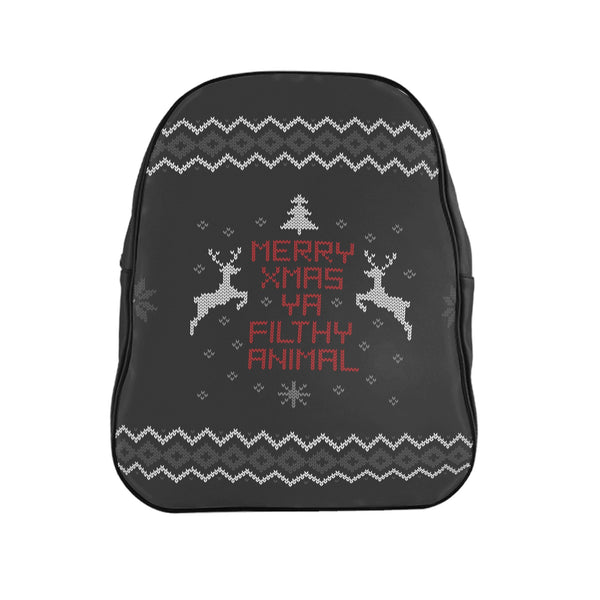 Merry Xmas Ya Filthy Animal Backpack-Printify-| All-Over-Print Everywhere - Designed to Make You Smile
