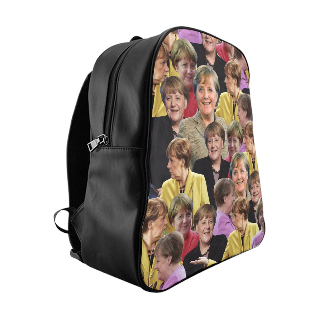 Angela Merkel Backpack-Printify-Large-| All-Over-Print Everywhere - Designed to Make You Smile