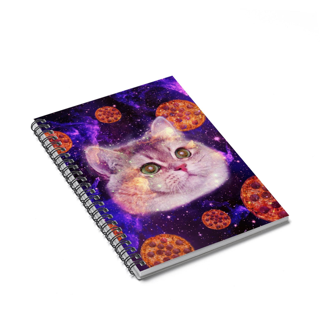 Heavy Breathing Cat Pizza Spiral Notebook-Printify-Spiral Notebook-| All-Over-Print Everywhere - Designed to Make You Smile