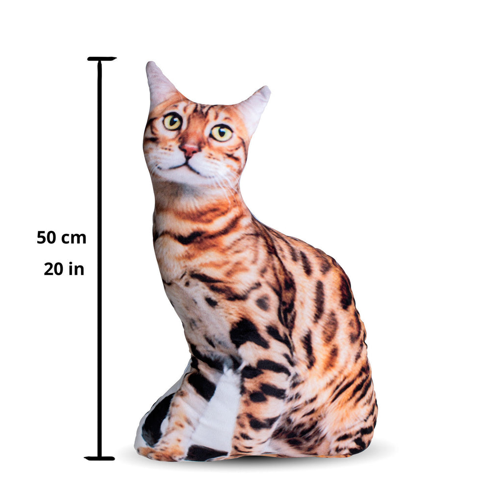 Bengal Cat 3D Pillow-Shelfies-50cm-| All-Over-Print Everywhere - Designed to Make You Smile