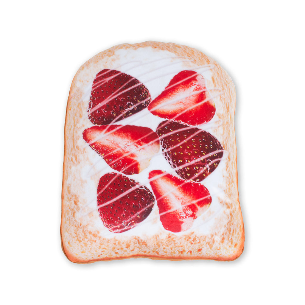 Strawberry Toast Giant 3D Pillow-Shelfies-One Size-| All-Over-Print Everywhere - Designed to Make You Smile