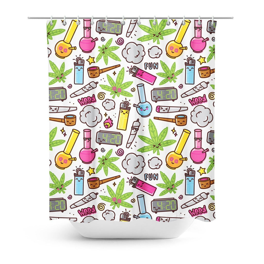 420 Shower Curtain-Gooten-| All-Over-Print Everywhere - Designed to Make You Smile