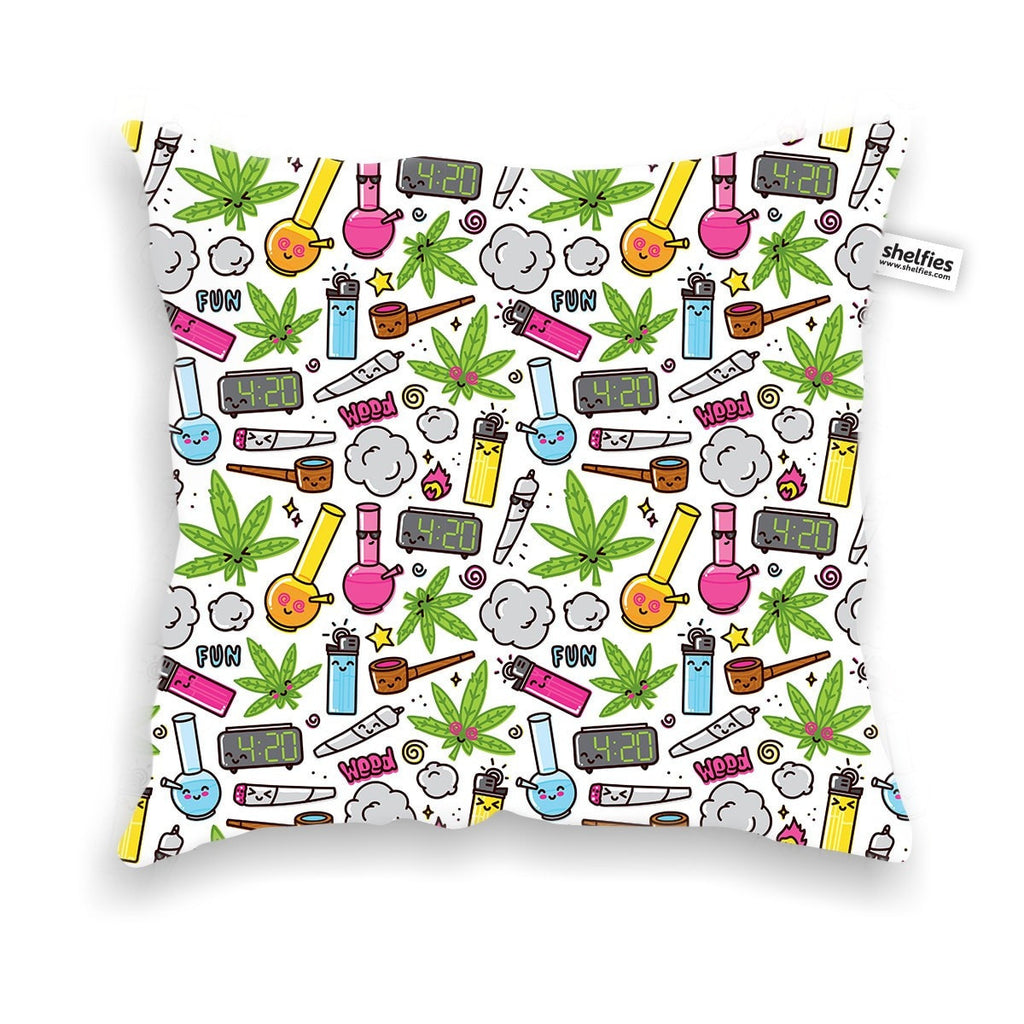 420 Throw Pillow Case-Shelfies-| All-Over-Print Everywhere - Designed to Make You Smile