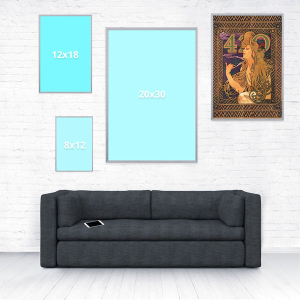 420 Mucha Poster-Shelfies-16 x 24-| All-Over-Print Everywhere - Designed to Make You Smile