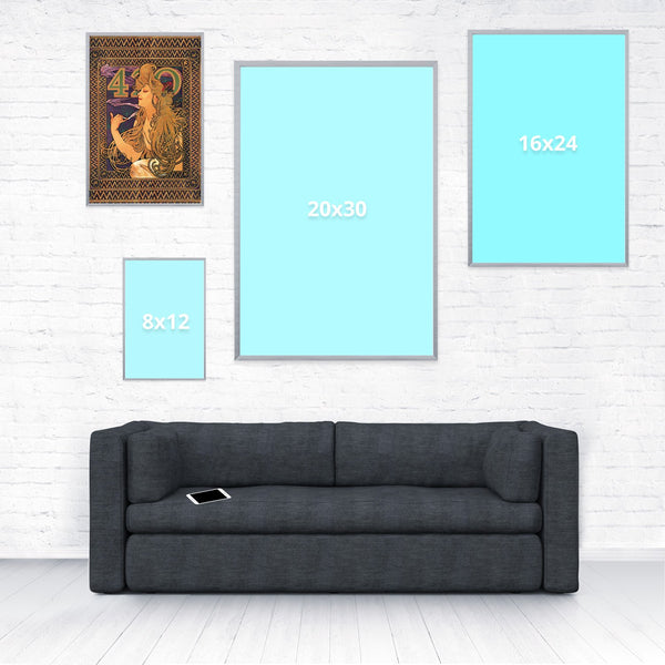 420 Mucha Poster-Shelfies-12 x 18-| All-Over-Print Everywhere - Designed to Make You Smile